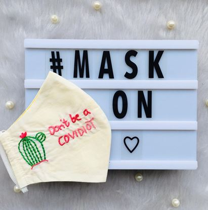 Picture of Covidiot quotes mask