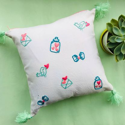 Picture of Cushion with embroidery cover
